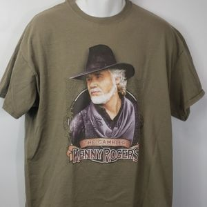 Kenny Roger's the Gambler tshirt green sz XL